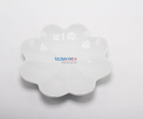 Đĩa hoa tròn trắng to MNV-BA34