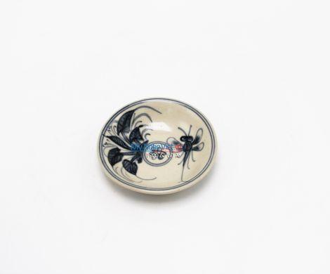 Dĩa muối gốm vẽ chuồn xanh Bát Tràng MNV-BOA01/4