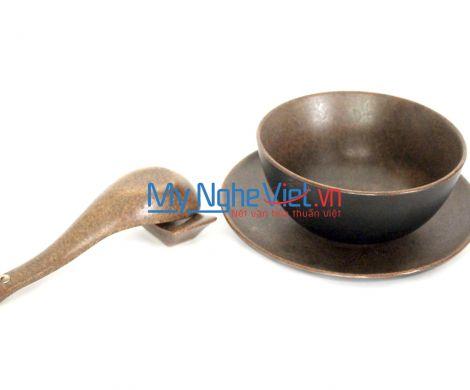 Bát cơm men nâu gốm MNV-MN01