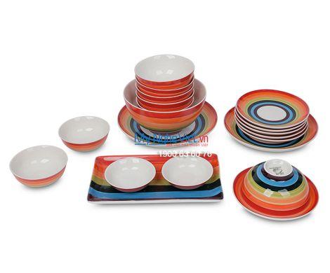 Bộ bàn ăn cầu vòng dành cho 6 người MNV-BBA01-15