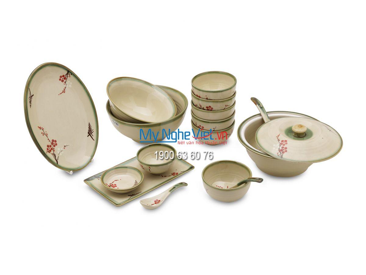 Bộ chén dĩa bàn ăn dành cho 6 người - MNV-BBA2