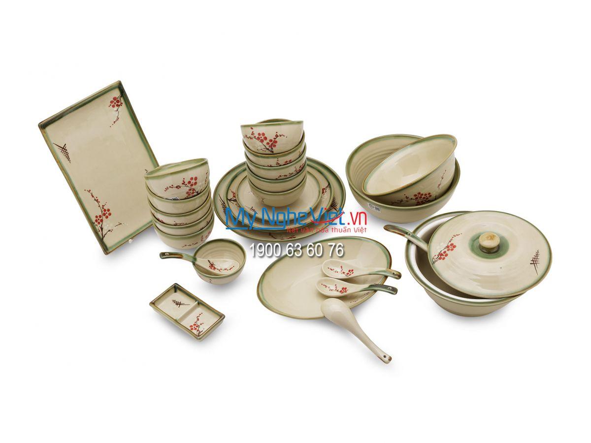Bộ chén dĩa bàn ăn dành cho 10 người - MNV-BBA1