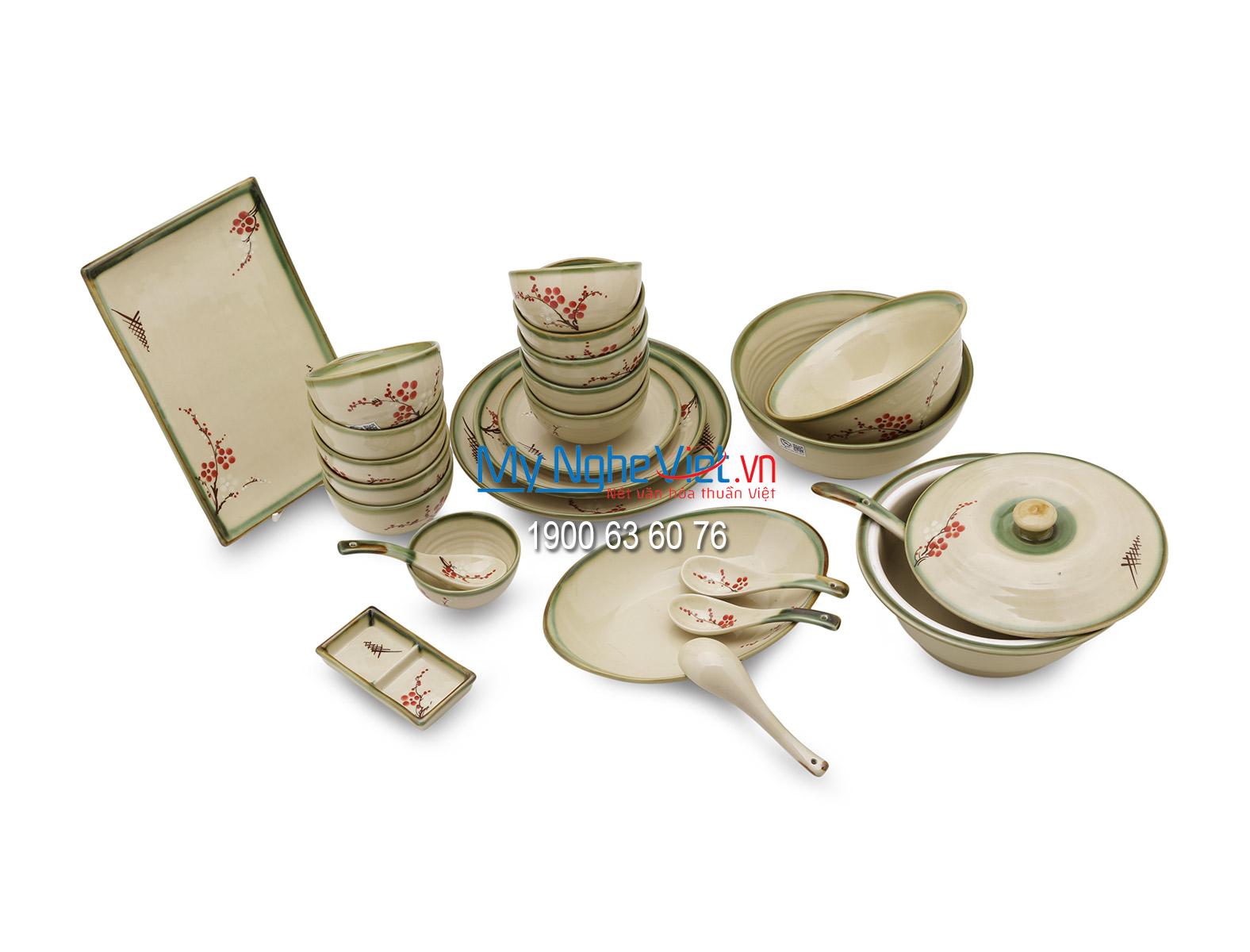 Bộ bàn ăn dành cho 10 người - MNV-BBA1