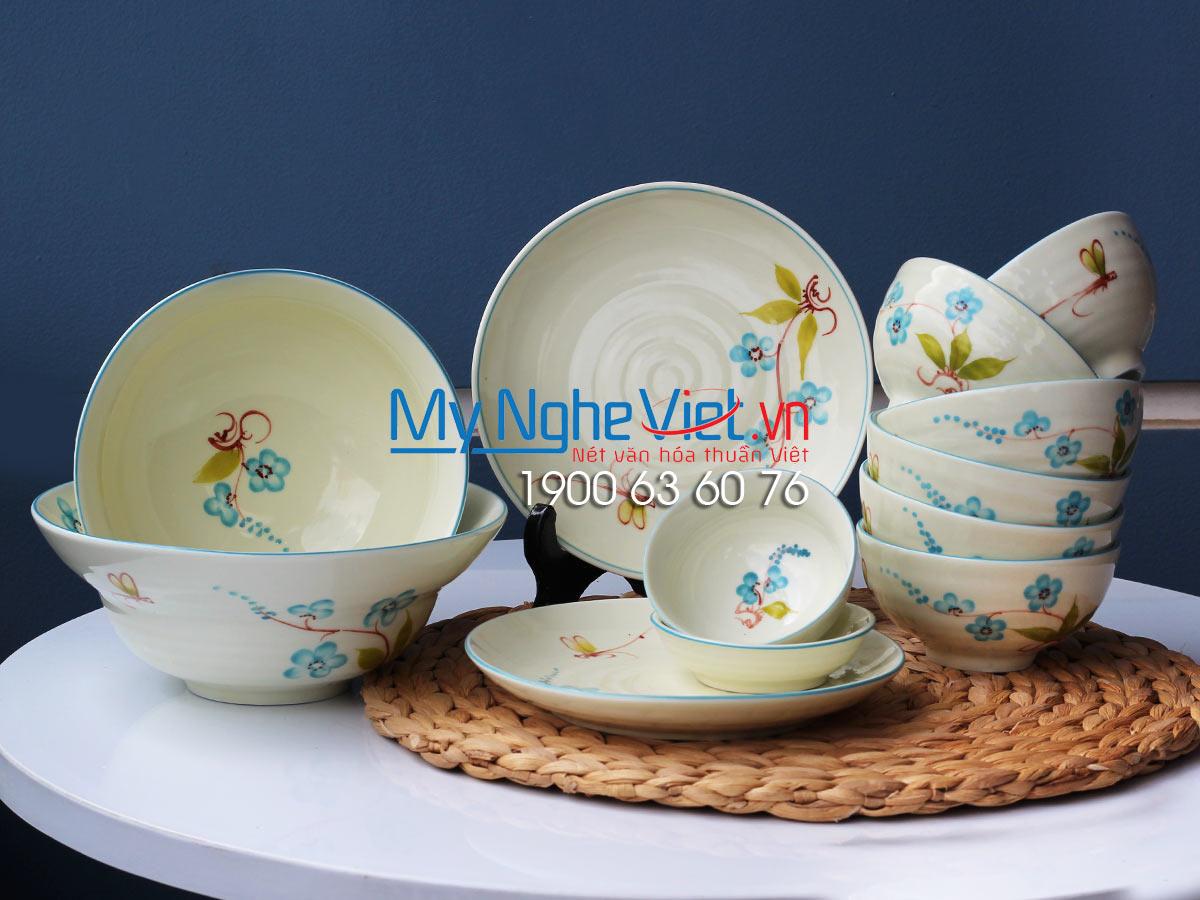 Bộ chén dĩa bàn ăn 6 người MNV-BBA02/Hoa chuồn