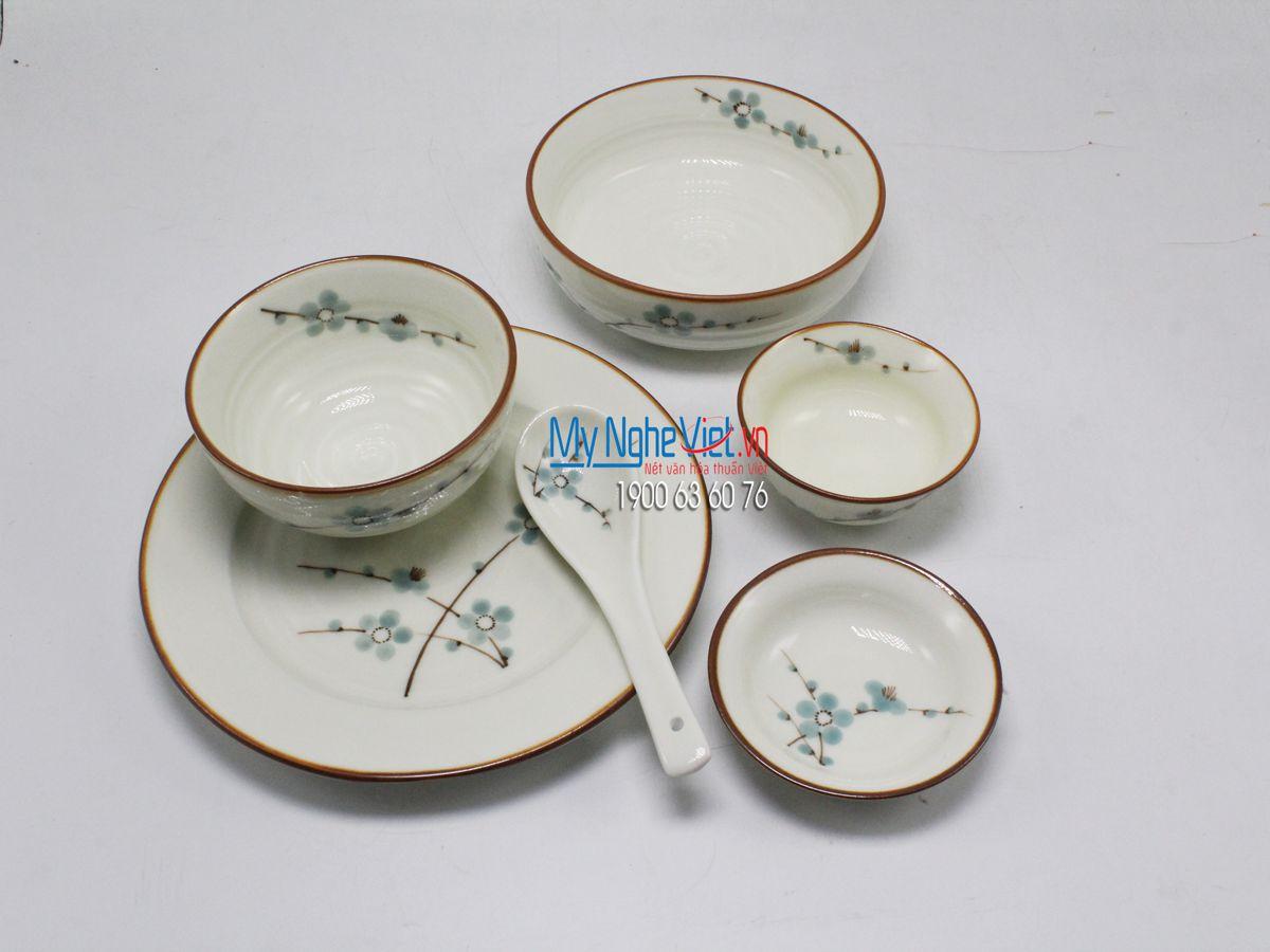 Bộ bàn ăn 6 người MNV-BBA02/đào xanh ( Đặt hàng lấy sau)