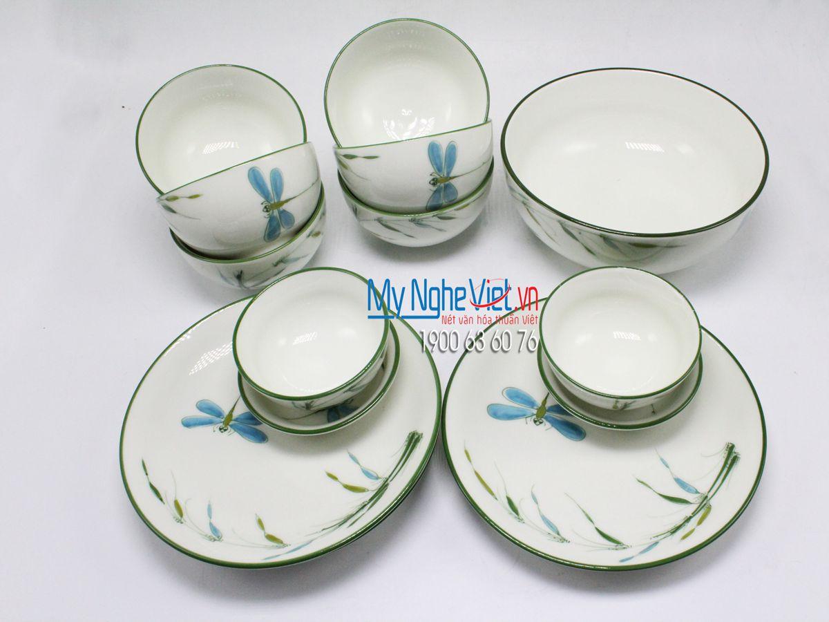 Bộ chén dĩa bàn ăn 6 người MNV-BBA02/trúc chuồn